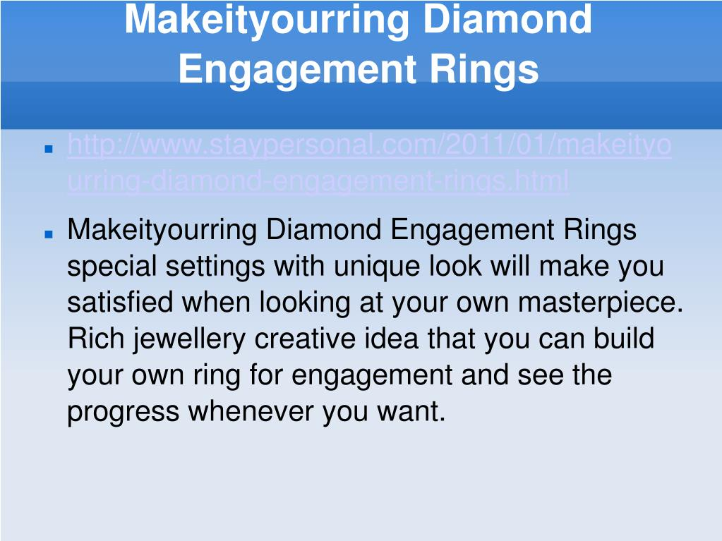 makeityourring diamond engagement rings l.