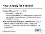 how to apply for a refund