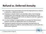 refund vs deferred annuity