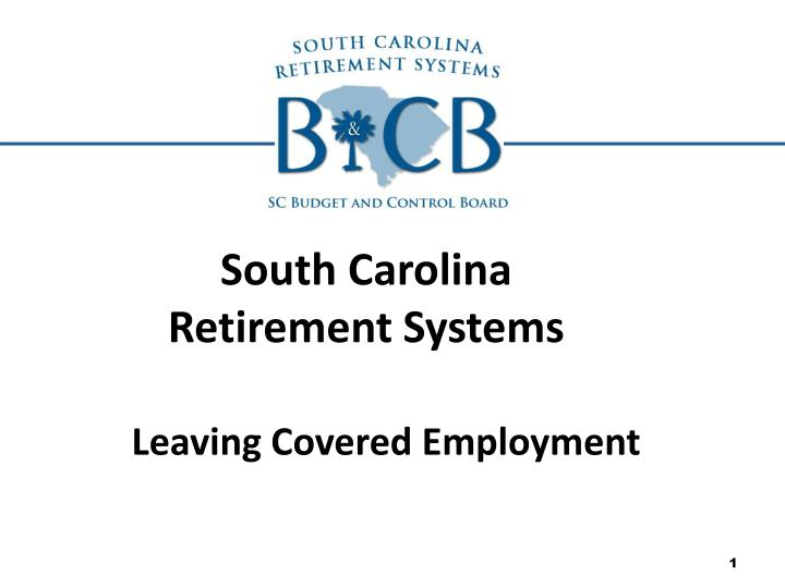 south carolina retirement systems n.
