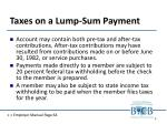 taxes on a lump sum payment