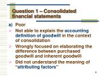 question 1 consolidated financial statements1