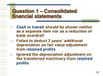 question 1 consolidated financial statements7