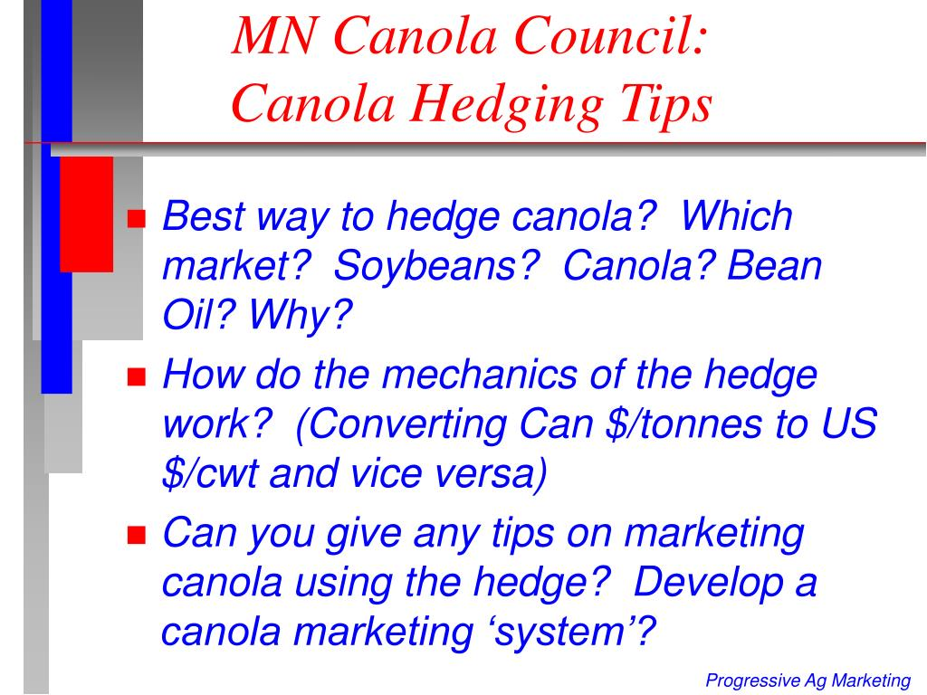 mn canola council canola hedging tips l.