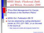 ndsu study flaskerud dahl and wilson november 2000