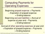 computing payments for operating expenses