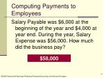 computing payments to employees
