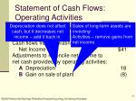 statement of cash flows operating activities