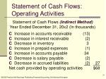 statement of cash flows operating activities20