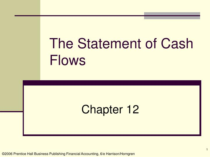 the statement of cash flows n.