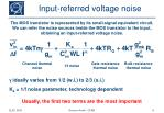 input referred voltage noise