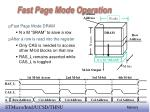 fast page mode operation