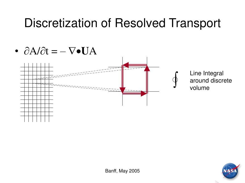 Discretization of Resolved Transport