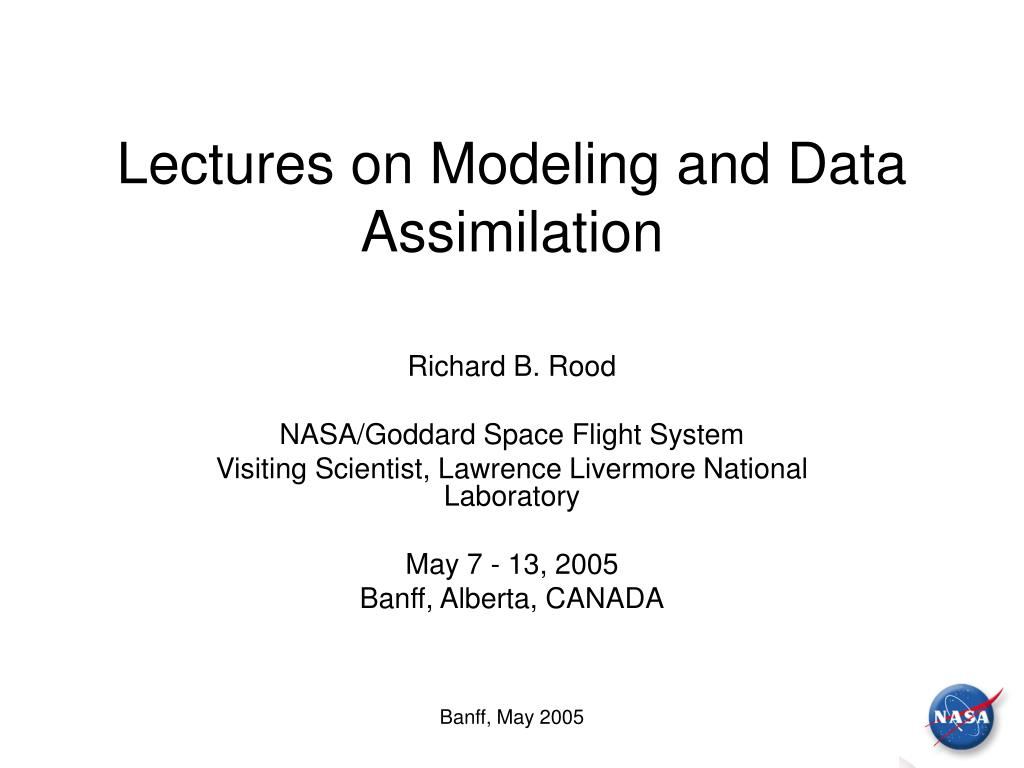 lectures on modeling and data assimilation l.