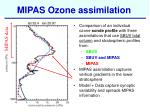 mipas ozone assimilation