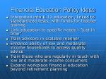 financial education policy ideas