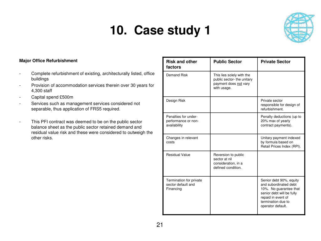 10.  Case study 1