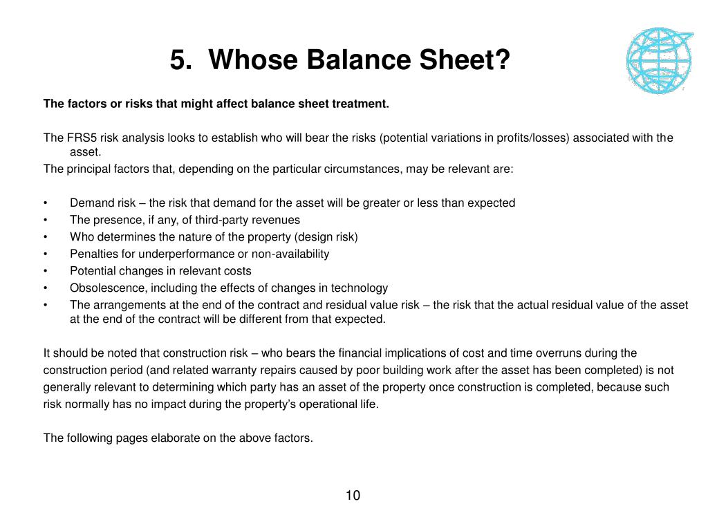 5.  Whose Balance Sheet?