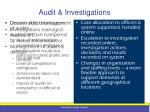 audit investigations