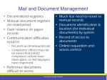 mail and document management