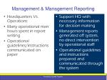 management management reporting