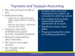 payments and taxpayer accounting