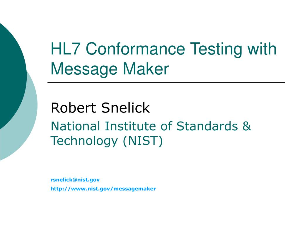 hl7 conformance testing with message maker l.