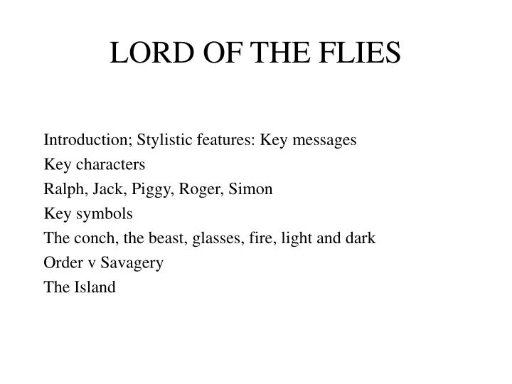 lord of the flies message