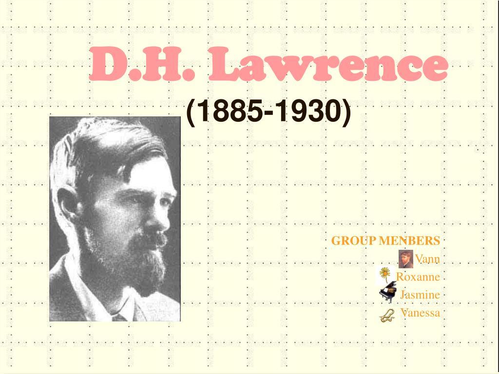 d h lawrence 1885 1930 l.