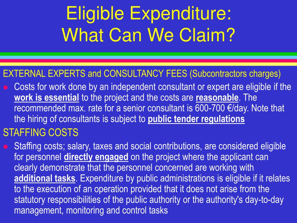 Eligible Expenditure
