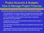 project accounts budgets how to manage project finances21