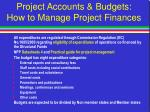 project accounts budgets how to manage project finances23