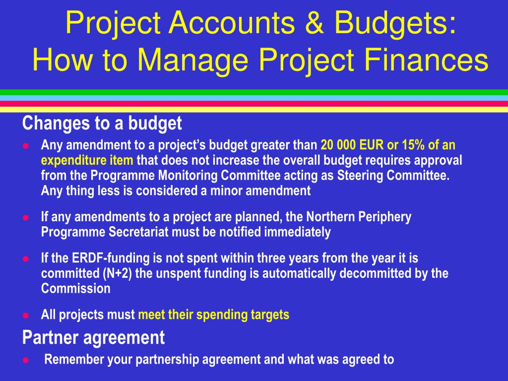 Project Accounts & Budgets: How to Manage Project Finances