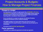 project accounts budgets how to manage project finances24