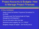 project accounts budgets how to manage project finances25