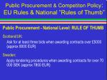 public procurement competiton policy eu rules national rules of thumb41