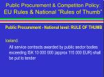 public procurement competiton policy eu rules national rules of thumb44