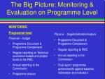 the big picture monitoring evaluation on programme level47