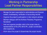 working in partnership lead partner responsibilities3