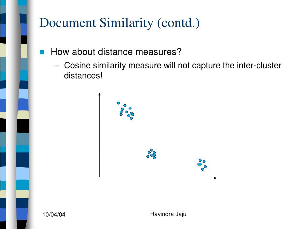 Document Similarity (contd.)