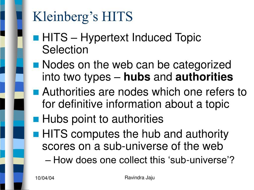Kleinberg's HITS