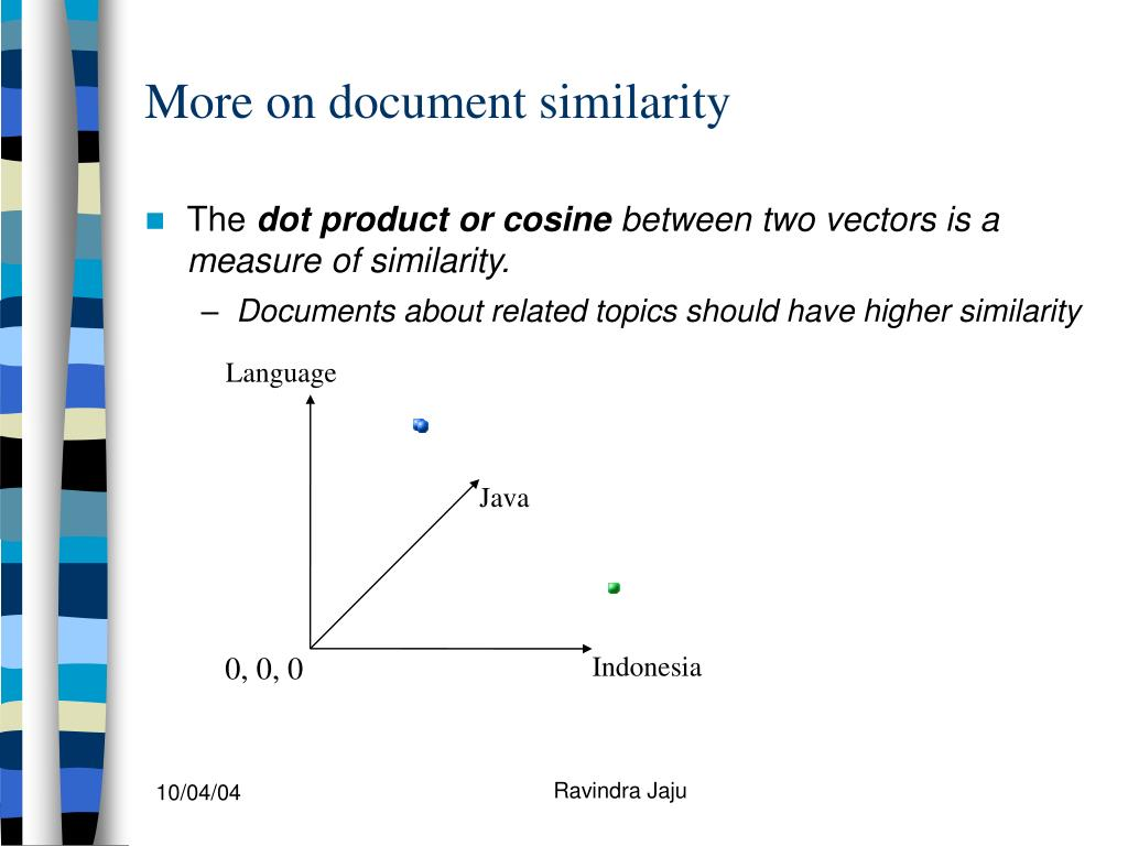 More on document similarity