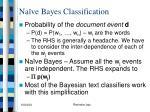 na ve bayes classification