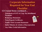 corporate information required for year end checklist8
