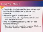 filing status married