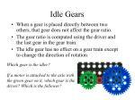 idle gears