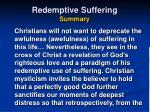 redemptive suffering summary