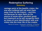 redemptive suffering summary46