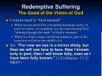 redemptive suffering the good of the vision of god40