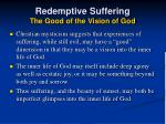 redemptive suffering the good of the vision of god44